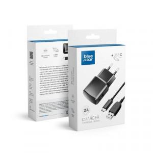 Зарядно за стена NEW BLUE STAR 2A + кабел USB / Type-C