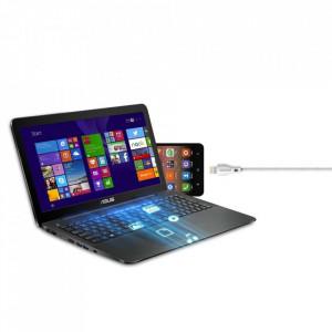 Кабел за зареждане и трансфер на данни Dudao USB / micro USB 2.4A 2m бял (L4M 2m бял)