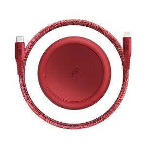 Кабел за зареждане и трансфер на данни UNIQ MFI Halo Type-C / Lightning 18W 2.4A 1.2m червен