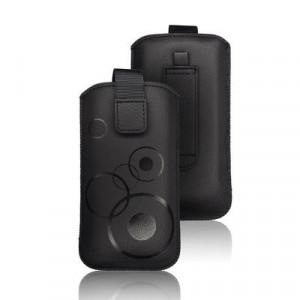 Калъф тип джоб FORCELL Deko - iPhone 5 / 5s / SE / 5C черен