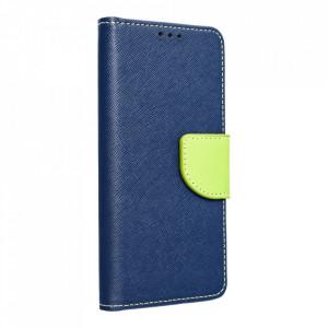 Калъф тип книга Fancy - Motorola Moto G 5G тъмносин / лайм