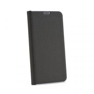Калъф тип книга Luna Carbon - Samsung Galaxy A7 2018 черен