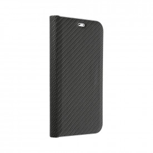 Калъф тип книга Luna Carbon - Xiaomi Redmi Note 9T 5G черен