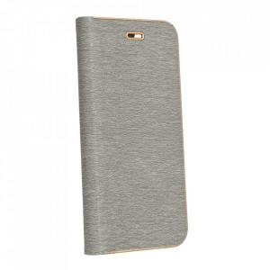 Калъф тип книга Luna - Samsung Galaxy A12 сив
