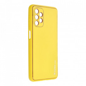 Кожен гръб Forcell LEATHER - Samsung Galaxy A32 5G жълт