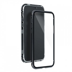 Магнитен калъф 360° с протектор - iPhone 12 / 12 Pro черен