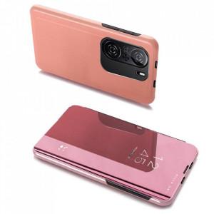 Огледален калъф тип книга Clear View - Xiaomi Mi 11i / Poco F3 / Poco F3 Pro / Redmi K40 / Redmi K40 Pro розов