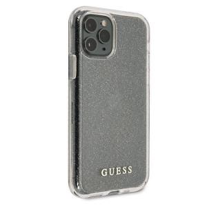 Оригинален гръб GUESS Glitter GUHCN65PCGLSI - iPhone 11 Pro Max сребърен