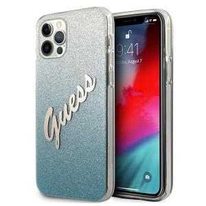 Оригинален гръб GUESS GUHCP12MPCUGLSBL - iPhone 12/12 Pro син