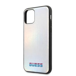 Оригинален гръб GUESS Iridescent - iPhone 11 Pro Max сребърен