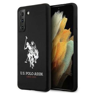 Оригинален гръб US Polo Silicone Logo USHCS21MSLHRBK - Samsung Galaxy S21 Plus черен