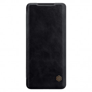 Оригинален кожен гръб Nillkin Qin - Samsung Galaxy S20 Ultra черен