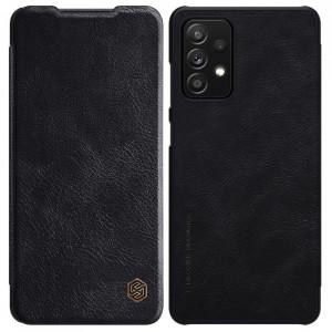 Оригинален кожен калъф тип книга Nillkin Qin - Samsung Galaxy A72 5G/4G черен