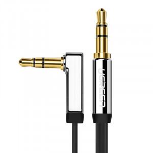 Плосък кабел Ugreen AUX 3.5mm 2m сребърен (10599)