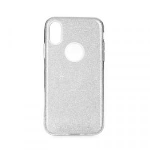 Силиконов гръб FORCELL Shining - iPhone 12 / 12 Pro сребрист