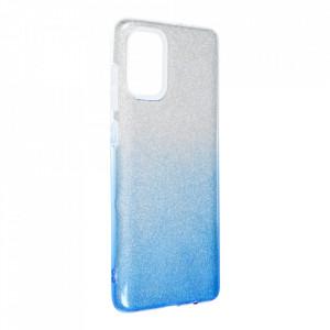 Силиконов гръб FORCELL Shining - Samsung Galaxy A72/A72 5G сребрист / син