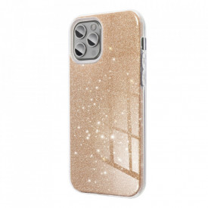 Силиконов гръб FORCELL Shining - Samsung Galaxy S21 Ultra златен