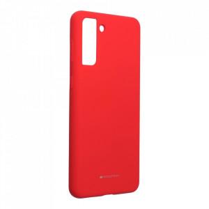 Силиконов гръб Mercury Silicone - Samsung Galaxy S21 Plus червен