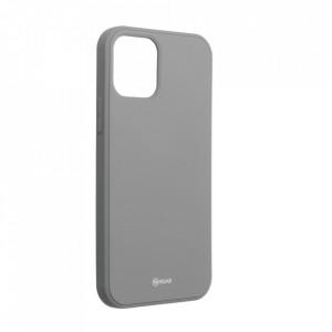 Силиконов гръб ROAR Colorful Jelly - iPhone 12 / 12 Pro сив