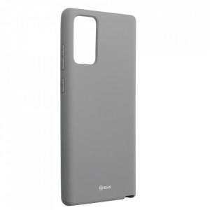 Силиконов гръб ROAR Colorful Jelly - Samsung Galaxy Note 20 сив