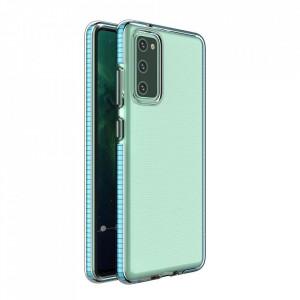 Силиконов гръб Spring с цветна рамка - Samsung Galaxy S21 светлосин