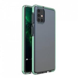 Силиконов гръб Spring с цветна рамка - Samsung Galaxy S21 Ultra мента