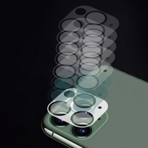 Супер издръжлив 9H закален стъклен протектор за камера пълно покритие - iPhone 11