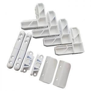 set accesorii plasa tantari alb
