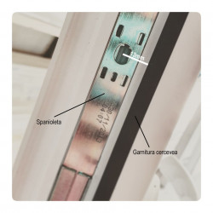 Sistem inchidere magnetic usa balcon + maner plastic, multicolor