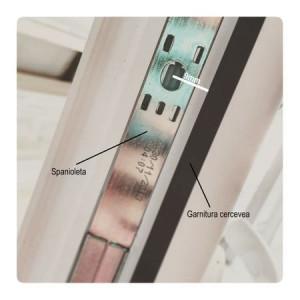 Kit închidere ușă balcon pvc și mâner scoică, alb, maro, stejar auriu, gri-antracit
