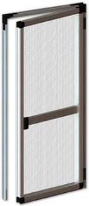 Plasă țânțari cu profil dublu pentru ușă PVC si aluminiu, 4 variante de culori