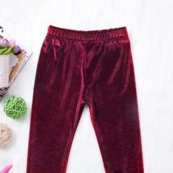 Pantaloni bumbac cu aspect de catifea, haine copii
