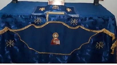 Poze Acoperaminte Sfanta Biserica - Fata de masa cu Sfanta icoana a Mantuitorului brodata