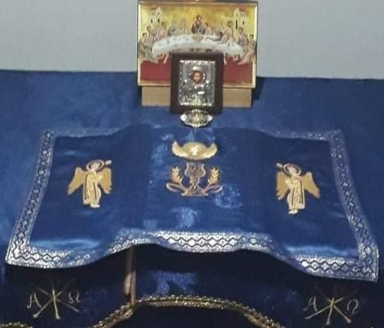 Poze Acoperamant brodat pentru Sfanta Evanghelie