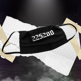 Mască 225200 brodată - Black
