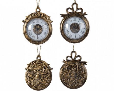 Ornament, cu agatatoare, ceas, 13 cm
