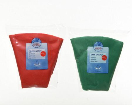 Covor pentru bradul de Craciun, rosu/verde, D100 cm