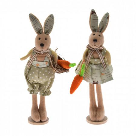Figurina textila, iepure in picioare, 20 cm