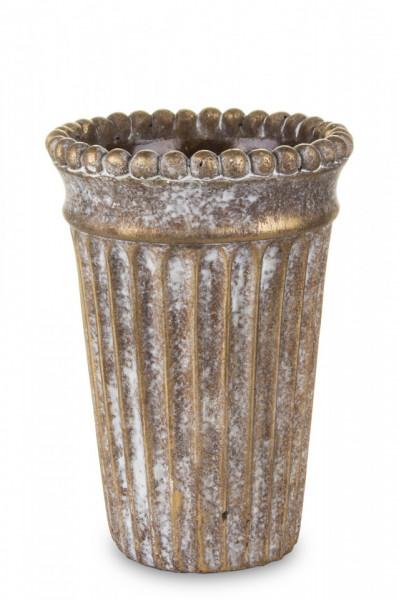 Ghiveci de piatra, bronz, 12.5x18 cm