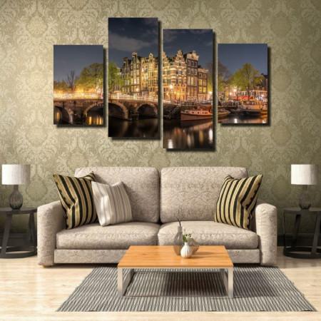 Tablou canvas pe panza city 3 - KM-CM4-CTY3