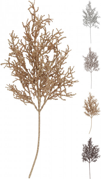 Crenguta artificiala de brad, color, 54 cm