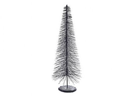 Brad metalic, gri inchis, 50 cm