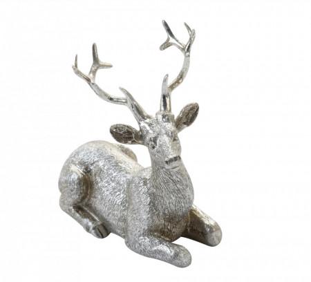 Figurina, ren sezut, argintiu, 10 cm