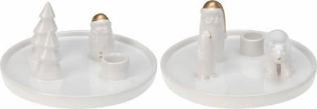 Suport lumanare ceramica XMAS round