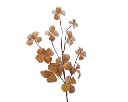 Creanga artificiala, frunze inghetate, 30x70 cm
