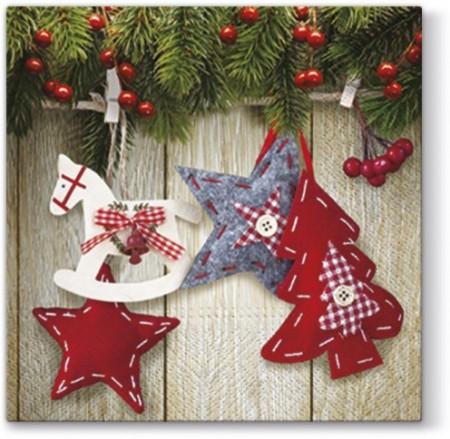 Set servetele de masa, 33x33 cm, Christmas stars