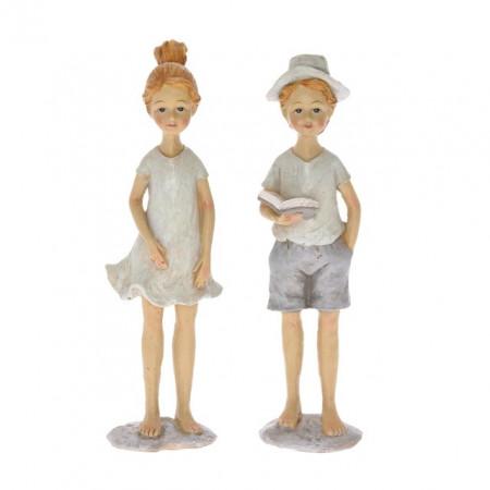 Figurina polirasina, copil in picioare, 17 cm