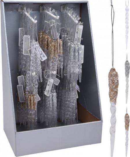Ornament cu agatatoare, turture, set 2 buc, 10 cm