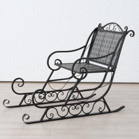 Sanie metalica decorativa, maro inchis, 93 cm inaltime