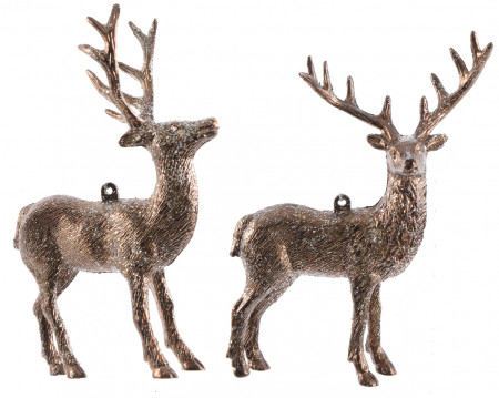 Figurina, ren cu agatatoare, bronz, 14 cm